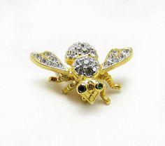 vintage JOAN RIVERS bumble bee pin/ joan by TreasureTrovebyTish, $14.67