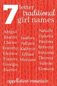 Can I make an alphabet out of seven letter traditional girl names? But I got farther than you might think . Baby Girl Names, Boy Names, First Lady Names, Traditional Girl Names, Natalie Green, Name Inspiration, Writing Inspiration, Georgia, Different Alphabets