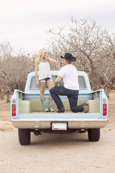 Credit to: edical photography and design country engagement photos old truck cowboy boots
