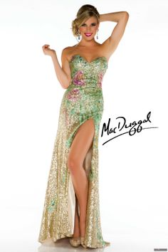 Mac Duggal Style 42966M - Strapless fitted gown with sweetheart bust.  Features floral pattern ecc5445dd1dd
