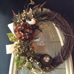 Spring grapevine wreath summer wreath by angieswreathsandmore
