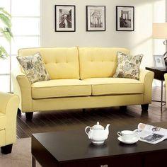 Claire Yellow Sofa - CM6266YW- SF