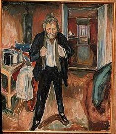 Edvard Munch - Self portrait in distress