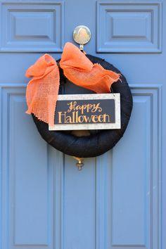 Halloween Wreath, Halloween Door Decor, Orange Black Wreath, Halloween…
