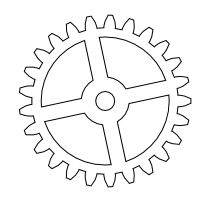 Nicu's How-to - Drawing gears in Inkscape Gear Template, Clock Template, Templates, Gear Drawing, Metal Lathe Projects, Steampunk Crafts, Printable Crafts, Toy Craft, Miniture Things