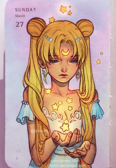 "qinni: ""  Happy Easter from Usagi! I just wanted an excuse to sketch some sailor moon hahaha. More daily sketch in my moleskine planner. I colour these digitally cause if I'm going to paint something traditionally I want good paper. But it is..."