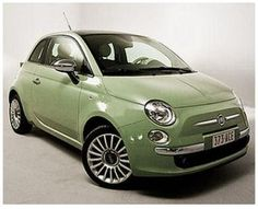 I want a green Fiat 500 Fiat 500c, Fiat Abarth, Fiat 500 Green, Fiat 500 Colours, Fiat 500 Lounge, Fiat Cars, Car Colors, Steyr, Cute Cars