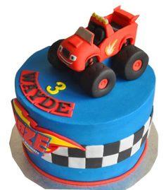 Blaze Birthday Cake, Truck Birthday Cakes, Cars Birthday Parties, Monster Truck Birthday, Monster Trucks, Car Birthday, Torta Blaze, Bolo Blaze, Blaze Cakes