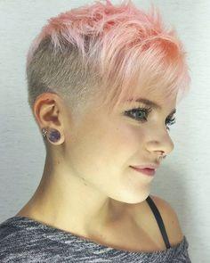 10 tolle pinkfarbene Kurzhaarschnitte! Bist Du auch so vernarrt in diese Farbe? - Neue Frisur