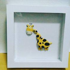 4 отметок «Нравится», 1 комментариев — @handmadestudio_dr в Instagram: «It's funny, so cute Ready, 3d jerapah. Membuat dinding ruangan anda lebih menarik #art #pebble…»