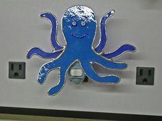 Octopus Nightlight - Glass Octopus Nightlight - Stained Glass Nightlight - Handcrafted Nightlight. $28.00, via Etsy.