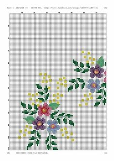 Cross Stitch Numbers Borders Flowers Designs