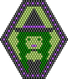 Witch bead pattern in avocado green! #iloveavocadosforhalloween