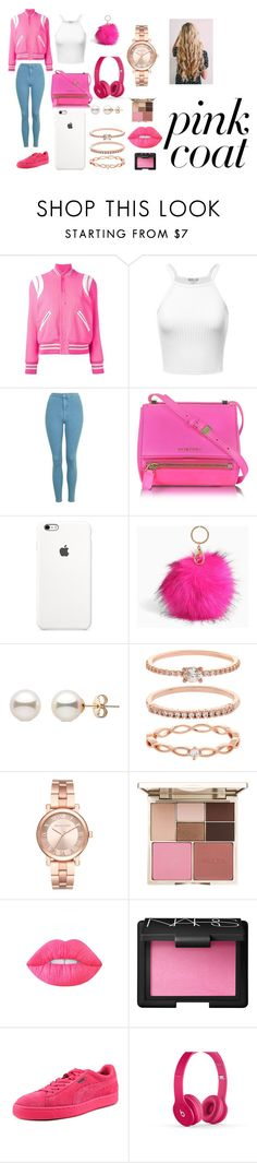 """Untitled #38"" by pinkie08 ❤ liked on Polyvore featuring Yves Saint Laurent, Topshop, Givenchy, Torrid, Accessorize, Michael Kors, Stila, Lime Crime, NARS Cosmetics and Puma"
