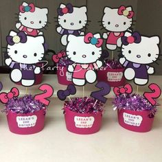 23 Best Kids Party Centerpieces Images Hello Kitty Themes Hello