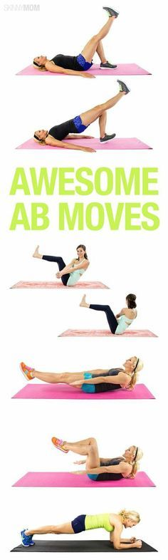 "Fitness Motivation : Illustration Description 8 moves to tone your abs! ""The difference between the impossible and the possible lies in a person's determination"" ! -Read More – Sport Fitness, Fitness Diet, Fitness Motivation, Keep Fit, Stay Fit, Fitness Inspiration Body, Skinny Mom, Health And Fitness Tips, Nutrition Tips"