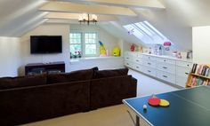 4 Fair Tips: Attic Playroom attic conversion kitchen extensions.Attic Conversion Built In Bed old attic staircases. Attic Playroom, Playroom Design, Attic Rooms, Attic Spaces, Attic Bathroom, Attic Game Room, Attic Office, Playroom Seating, Children Playroom