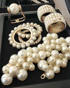 ♔ Chanel Pearl Jewelry ~ Spring 2013