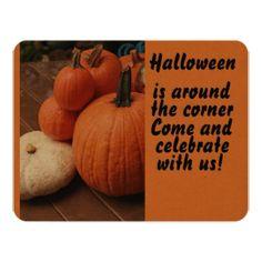 Halloween is around the corner celebraye pumpkins card - invitations custom unique diy personalize occasions
