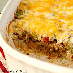 John Wayne Casserole - Beef and biscuits in a he-man flavorful combination your whole family will love.