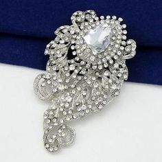 Awesome Details About Elegant Big Large Crystal Rhinestone Brooch Pin Wedding  Bridal Party Gifts Decro