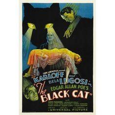 The Black Cat 1934 Lugosi Karloff Horror Movie Vintage-Style Poster