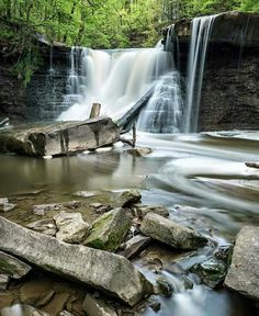 Instagrammer @shaun_eastin took this photo of the gorgeous waterfall at Ohio's Viaduct Park. Wow!