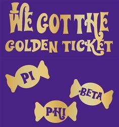 Pi Beta Phi Willy Wonka bid day! #piphi #pibetaphi