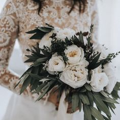 Use Darker Hue Foliage to Bring Winter Feel The future wedding inspirations of That Kind Of Woman.