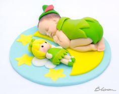Peter Pan de la torta  Ducha del bebé  Bebé fondant