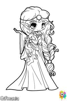 princesa élfica #princesa #elfo #dibujo