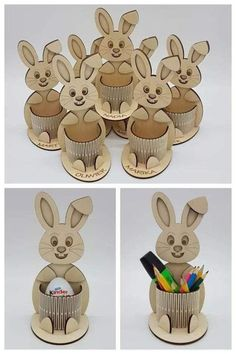The vector file Laser Cut Bunny Egg Holder CDR File is a Coreldraw cdr ( .cdr ) file type, size is KB, under diy puzzle vectors. Laser Cutter Ideas, Laser Cutter Projects, Laser Cut Wood, Laser Cutting, Diy And Crafts, Crafts For Kids, Kids Diy, Cnc Plans, Project Table