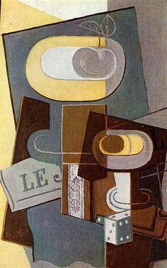 El Dado, 1922 - Juan Gris. Cubismo Sintético