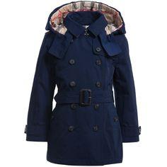Girls Navy Blue Padded Trench Coat, Burberry, Girl