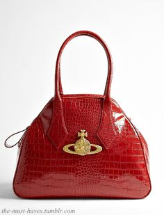 The Vivienne Westwood Large Chancey Red Patent Tote...Yummy :)