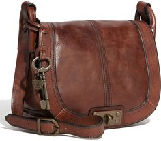 Fossil Leather Crossbody Bag - love it