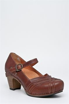 Dansko - I have these, and I LOVE them so much I went back and bought another pair of them in black.