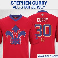 Be the first to get Stephen Curry's NBA All-Star jersey. Available now at http://warriorsteamstore.com.