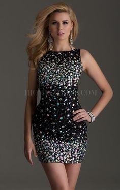 2d6356e5f1 Elegant Bateau Short Beaded sheath Homecoming Dress 10969272 - Sexy -  ihomecoming.Com Cute Dresses
