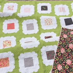 My 2nd new pattern is Kindred.  I named it Kindred because the blocks reminded me of scalloped picture frames spread across the quilt top.  And the backing!--love that print!  Kindred is a charm pack friendly quilt and is now for sale in my Etsy shop in PDF or Paper versions. #Sundrops #sundropsfabric #coreyyoder #corianderquilts #showmethemoda #quiltmarket