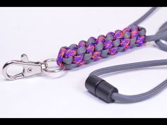 Make a Round Crown Sinnet Neck Lanyard with Break Away Buckle - BoredParaocrd - YouTube