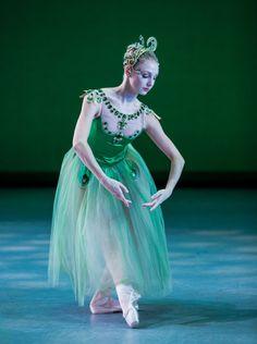 George Balanchine's Jewels! Emeralds. Madison Morris in the Houston Ballet production of Balanchine's Jewels.