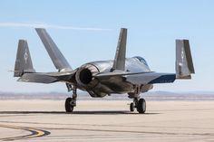 Wingtips Up An F-35C taxis at EdwardsAFB
