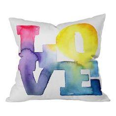 CMYKaren Love 4 Polyester Throw Pillow..great for a teens room