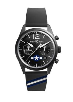 Bell & Ross: BR Insignia US WWII with PVD case. 41mm case. $3,250
