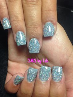 Purple sparkle anc nails custom color with galaxy sparkles sns nails by lili prinsesfo Images