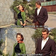 James Dean and Natalie Wood in Rebel Without a Cause