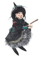 Witch of Pendle Doll - Elizabeth Device  - Green