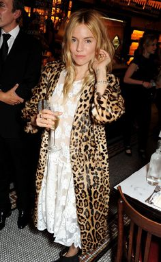 How to handle a leopard coat.