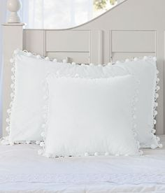 Ball Fringe Trimmed Pillow